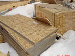 stacks of plywood and particle board