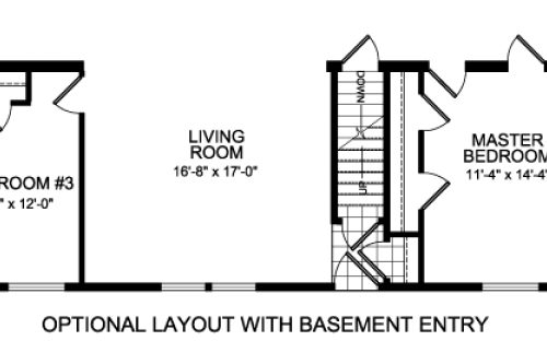 Alternate Floorplan With Basement Access